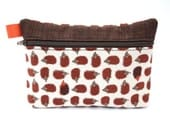 Essential Oil Bag holds 5 10ml oils Essential oil pouch hedgehog print