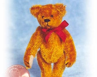 "PDF Pattern & Instructions for Miniature Teddy Bear - Circa 1904 Bear 2 1/4"" tall -  by Emily Farmer"