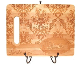 Damask Custom Bamboo Cutting Board