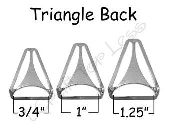 "25 Triangle Back Slide Adjuster - 3/4"", 1"" or 1.25"" Suspender Clips / Hardware - Nickle Plated - SEE COUPON"