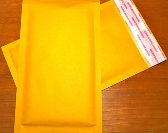 45  Bubble Mailer 4.75x7 in Kraft Padded Envelopes Size 000 small