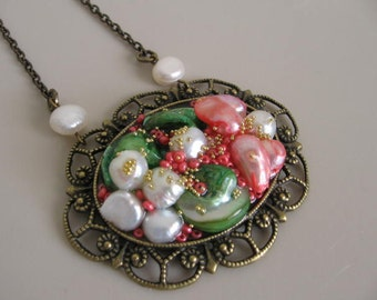 Victorian Style Pearl Necklace