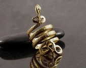Snake coil wrap ring handmade in solid gold - White gold, yellow gold, rose gold, serpent ring, snake ring, festival, 1920, zodiac,
