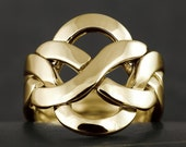 Large flat puzzle ring in 10kt 14kt or 18kt gold - More options available