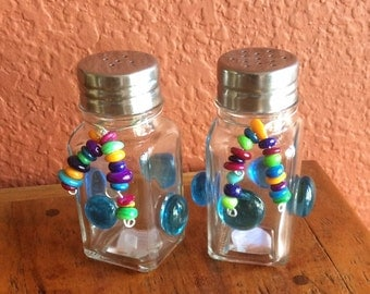 Funky Salt and Pepper shakers - set of two