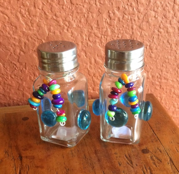 Items Similar To Funky Salt And Pepper Shakers Set Of