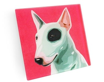 Set of 4 Bull Terrier Coasters