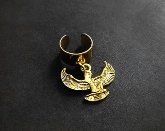 Ear Cuff, Goddess Isis, African Ear Cuff, Egyptian Ear Cuff, Kemetic, Isis, Cuff Earring, For Her, Body Jewelry ,Auset African Earcuff