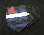 Leather Pride Pocket Flag Hankie BDSM Kink (JWL102)