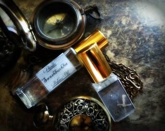 Swashbuckler Perfume Oil -  Dark Rum Charred Oak Leather Plum Bergamot Amber Patchouli