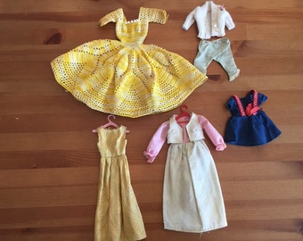 Vintage Barbie Clothes Homemade and Hand crocheted