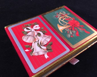 2 Packs of Vintage Congress Playing Cards Christmas Design