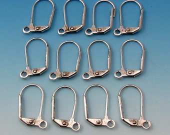 Antique Silver Lever Back Ear Wires, 12 Pc.  AS345