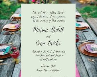 Modern wedding invitation set, RSVP, simple wedding, gold wedding