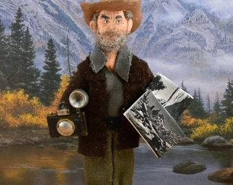 Ansel Adams Famous Photographer Doll Miniature Historical Character