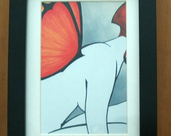 """5x7 framed """"A Moment to Rest"""" print"""
