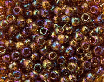 "Transparent Rainbow Smoky Topaz Toho Seed Bead 11/0 2.5"" Tube TR-11-177/C"