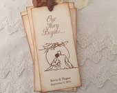 Wedding Favors Bookmarks Romantic Sunset Our Story Begins Favors