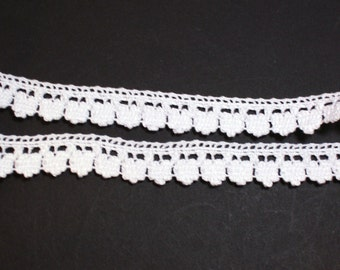 White Lace, White Cluny Lace Sewing Trim 5/8 inch wide x 5 yards