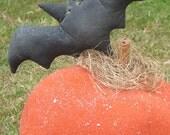 Primitive Halloween Pumpkin Bat TheHowlingHag