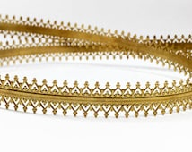 24 Inch (61cm) x 10mm Width ,Brass Strip Gallery Decorative Ribbon, Pattern wire (C120193BR)