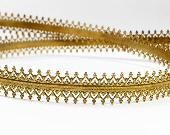 24 Inch (61cm) x 10mm Width ,Brass Strip Gallery Decorative Ribbon, Pattern wire (C120193BR)
