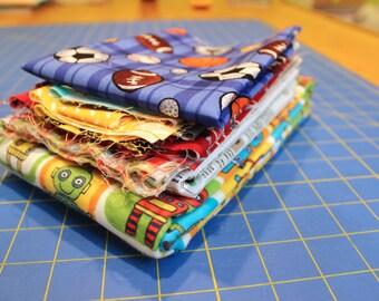 Fabric Destash Boy Prints
