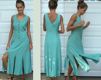 Turquoise Dress . tango dress . Makes You Want to Dance Dress . Size 14 dress .  Aqua Party Dress