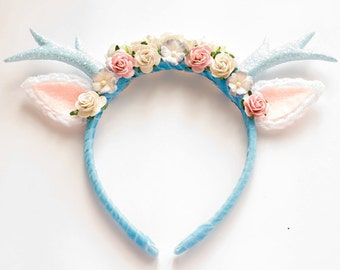 Blue Deer Headband
