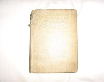 Vintage 1910 Arts & Crafts of Ancient Egypt Book As Is
