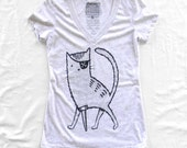 Pirate Kitty - Ladies V-Neck