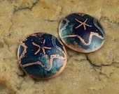 Etched Copper Metal Stamps, Earring Beads, Star Fish #779 by CC Design