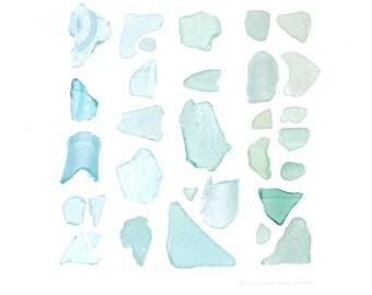 Aquamarine Sea Glass (11 x 14 photograph) aqua, aquamarine, seaglass, beachcombing, beach art, turquoise, blue, coastal decor