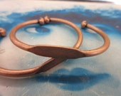 Copper Ox Plated Brass Bangle Bracelet with ID Blank 1074COP x1