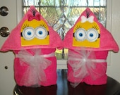 Minion Marigold Hooded Towel  THIS LISTING is for ONE  Ready To Ship