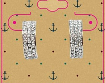 Made to Order Whimsical Nautical Style Kraft 2 X 2.5 Inch hanging Earring Cards
