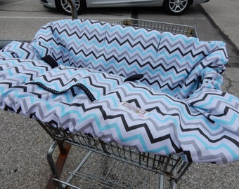 Shopping Cart cover for boy or girl.....Mini Chic Chevron