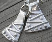 Pinball Wizard PMC Sterling Statement Jewelry Statement Earrings