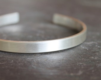 Brushed Sterling Silver Cuff / Bangle / Bracelet - Handmade Jewelry - Matte - Everyday - Modern - Classic - Heather Sorrell Apogee