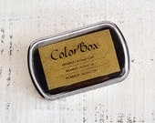 GOLD! ColorBox Archival Pigment Ink Pads Stamp Pad - Metallic Gold - Standard Size