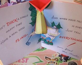 pop up pop out vintage cards