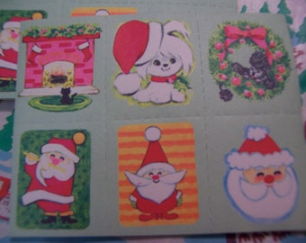 tiny and adorable holiday stickers