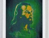 Christian Wall Art, Digital Collage Art, Jesus, LION OF JUDAH, Savior, Scriptures,Lion, Religious Gift, Bible Art, Bible verse, God Inspired
