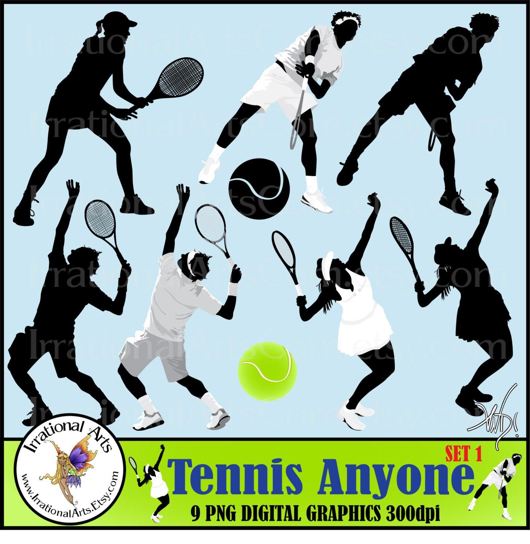 tennis anyone set 1 9 digital graphics png silhouette