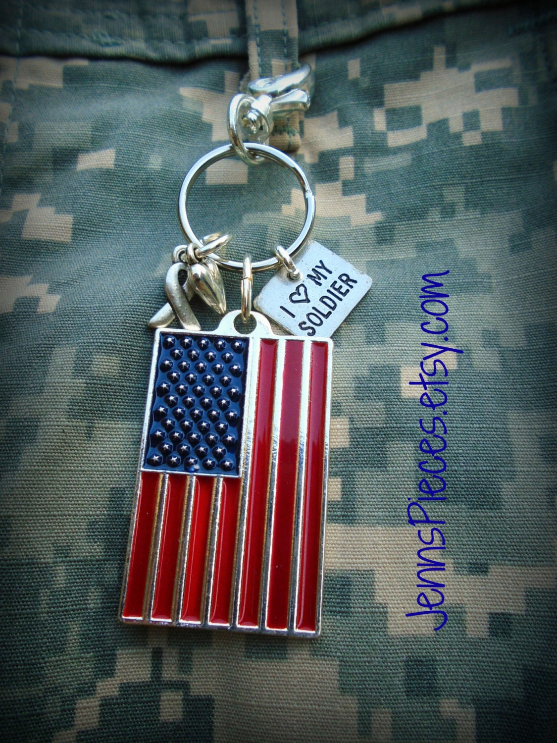 Keychains Circuit Board Glass Pendant Photo Necklace Keychain American Flag I Love My Soldier Sailor Marine Coastie Or Airman