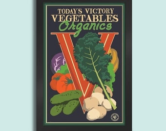 Victory Vegetables - 12x18 poster