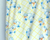 Vintage sheep fabric nursery baby