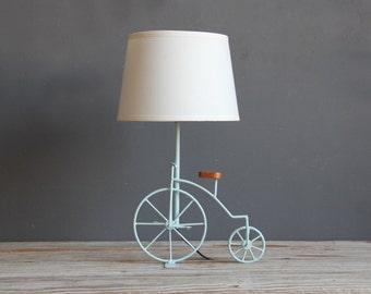 Light Aqua Bicycle Lamp