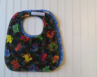 Mola Print  - Reversible Eco-Friendly Sewn Baby Bib