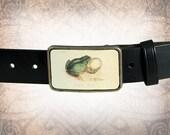 Belt Buckle - The Tree Frog - Leather Insert Belt Buckle